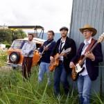 Fotoshoot met de band 'Orange Creek'